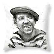 Yuriy Nikulin Portrait Throw Pillow