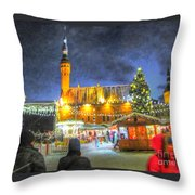 Yury Bashkin Tallinn New Year Throw Pillow