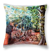 Thanks-giving In A Sacred Shrine Throw Pillow