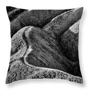 Zabriskie Point Badlands - Death Valley Throw Pillow
