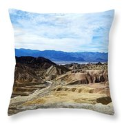 Zabriskie Point Throw Pillow