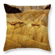 Zabriskie Point, Death Valley Throw Pillow