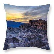 Zabriskie Point Sunset Throw Pillow