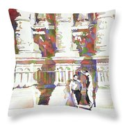 Zacatecas Cathedral Throw Pillow