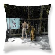 Zach And Jack  Throw Pillow by Wayne King