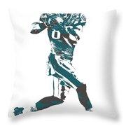 Zach Ertz Philadelphia Eagles Pixel Art 1 Throw Pillow