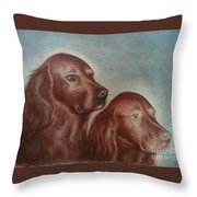 Zack And Katie 2 Throw Pillow