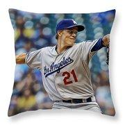 Zack Greinke Los Angeles Dodgers Throw Pillow