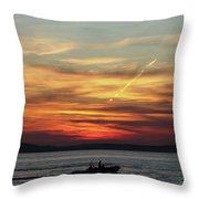 Zadar Sunset Throw Pillow