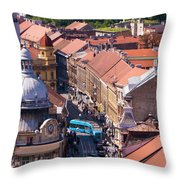 Zagreb Afternoon Throw Pillow