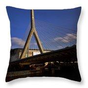 Zakim Bridge And Boston Garden At Sunset Throw Pillow