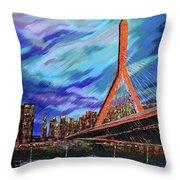 Zakim Bridge - Boston Throw Pillow