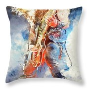 Zakk Wylde - Watercolor 09 Throw Pillow