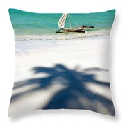 Zanzibar Beach Throw Pillow
