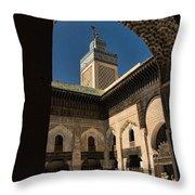 Zaouia El Tijaniya Mosque In Fes Morroco Throw Pillow
