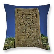 Zapotec History Throw Pillow by Juergen Weiss
