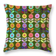 Zappwaits Flower Throw Pillow