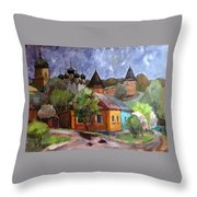 Zaraysk. Provincial Motif Throw Pillow