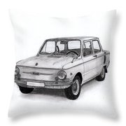 Zaz-966 Zaporozhets Throw Pillow