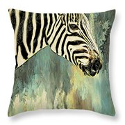 Zebra Abstracts Too Throw Pillow