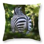 Zebra Curves And Stripes Throw Pillow