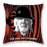 Zebra Blues Man Throw Pillow