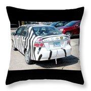 Zebra Car Rear Throw Pillow