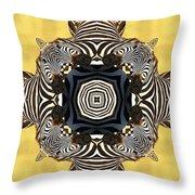 Zebra Cross Throw Pillow