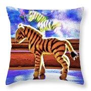 Zebra Dreaming Throw Pillow