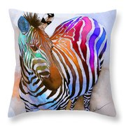 Zebra Dreams Throw Pillow