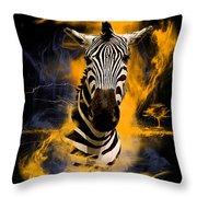 Zebra In Africa Throw Pillow