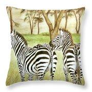 Zebra Pals Throw Pillow