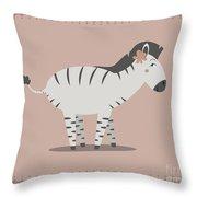 Zebra Posing Throw Pillow