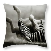 Zebra Rolling Throw Pillow