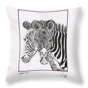Zebra Series 6 Throw Pillow