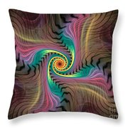 Zebra Spiral Affect Throw Pillow