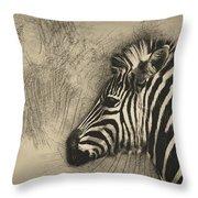 Zebra Study Throw Pillow