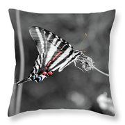 Zebra Swallowtail Butterfly 2016 Throw Pillow