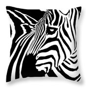 Zebra Works Throw Pillow