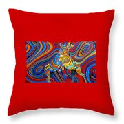 Zebradelic Throw Pillow