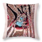 Zebras Eye - Abstract Art Throw Pillow