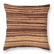 Zebrawood - Natural Abstract Throw Pillow