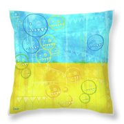Zeeko Abstract #103 Throw Pillow