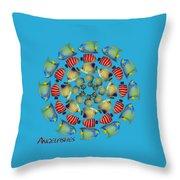 Zeerkl Of Angelfish Throw Pillow