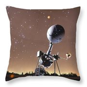 Zeiss Planetarium Projector Throw Pillow