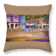 Zelda's Umbrellas Throw Pillow