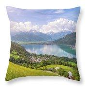 Zell Am See - Alpine Beauty Throw Pillow