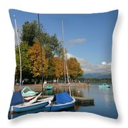 Zell Am See The Elements In Austria Throw Pillow