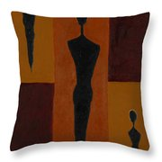 Five Daughters  Throw Pillow