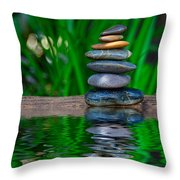 Zen Art And Reflections By Kaye Menner Throw Pillow